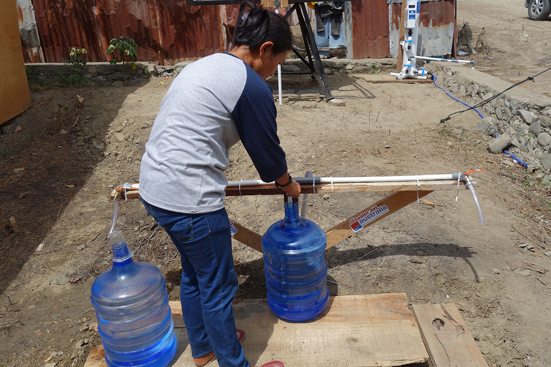 indonesia earthquake clean water