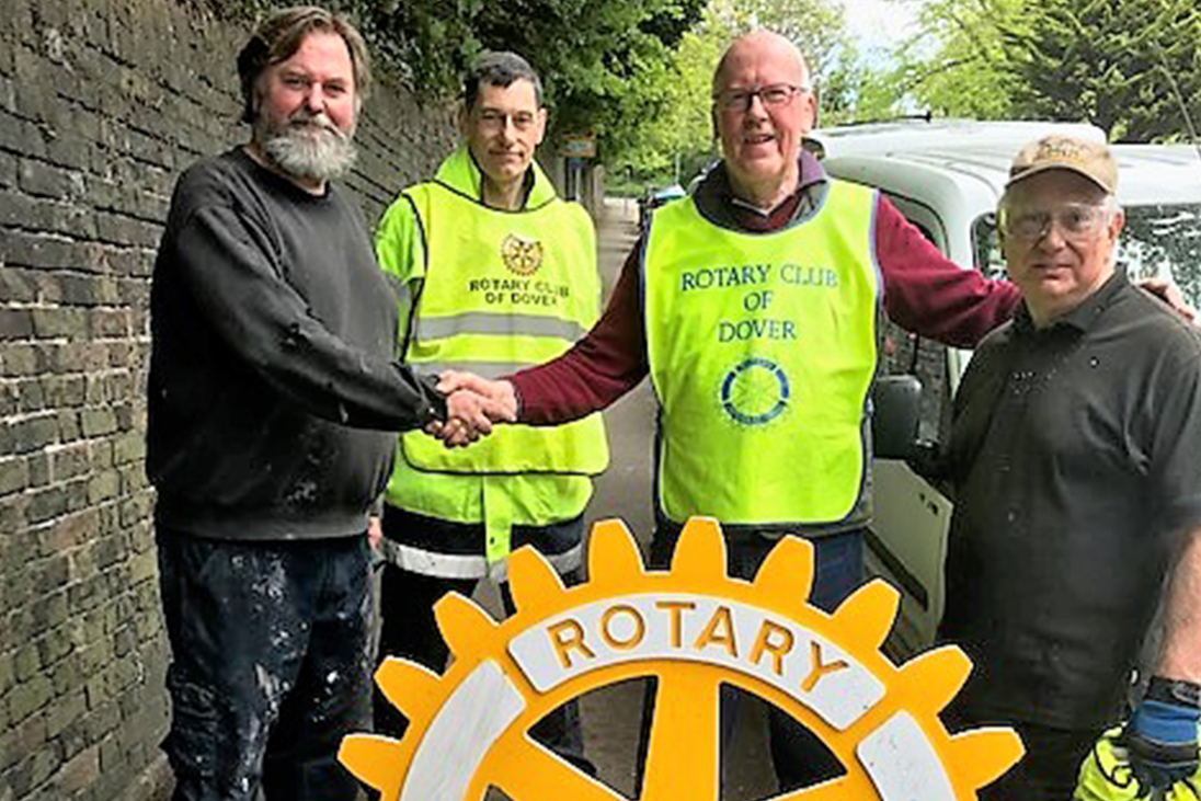 rotary volunteer clean up dover