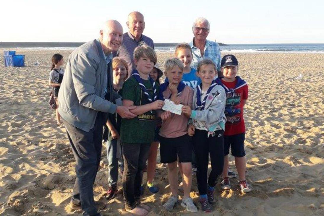 scouts beach donation