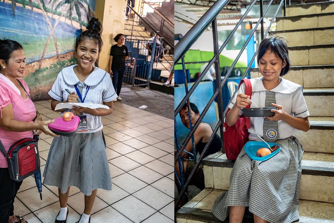school uniform girls students happy