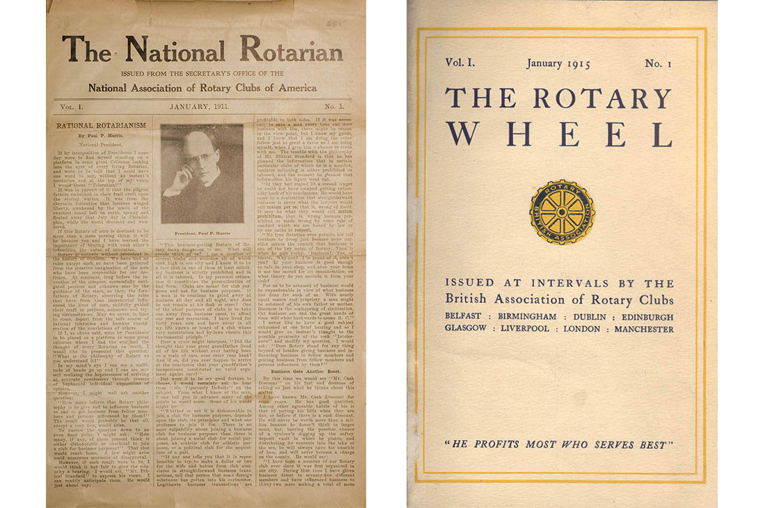the rotarian magazine history
