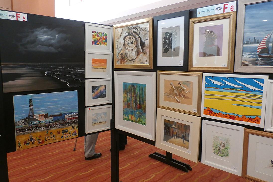 artwork display example talented