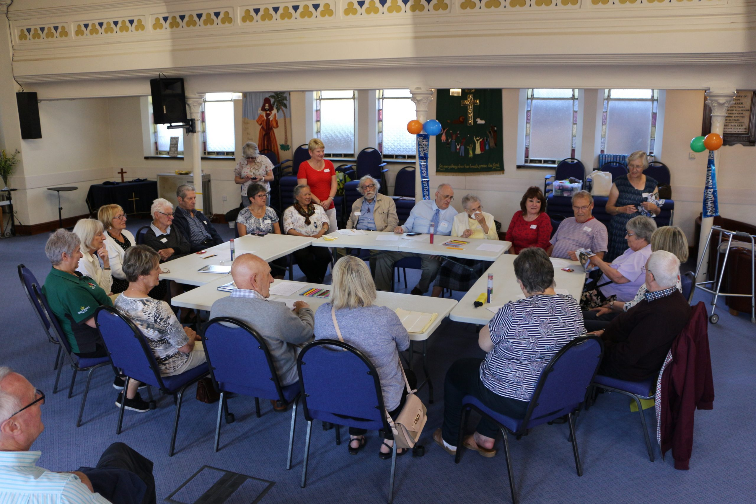 The memory cafe prior to COVID restrictions