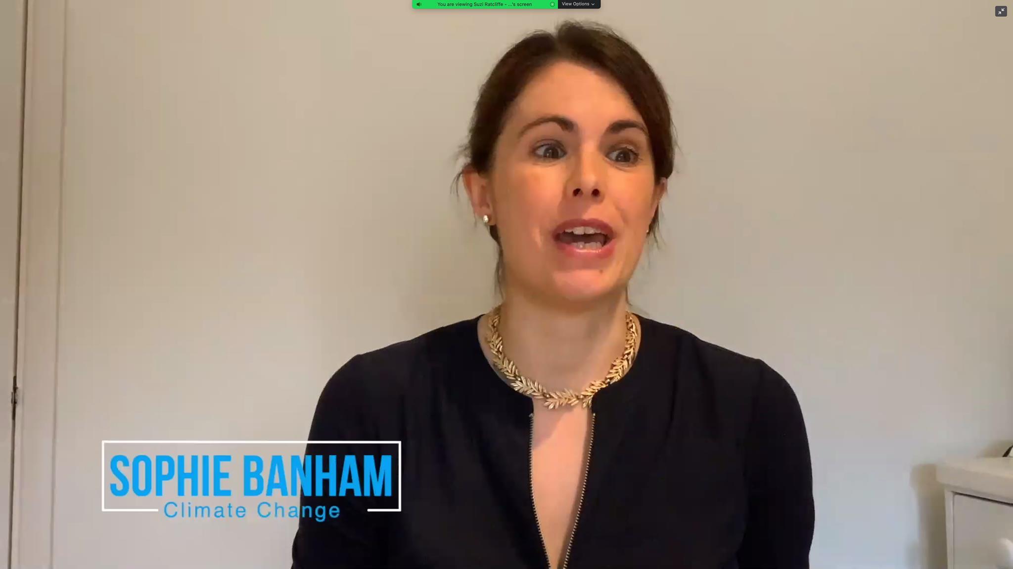 Sophie Banham seaker